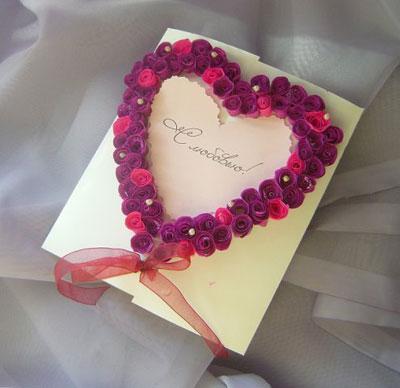 Валентинку своими руками открытки
